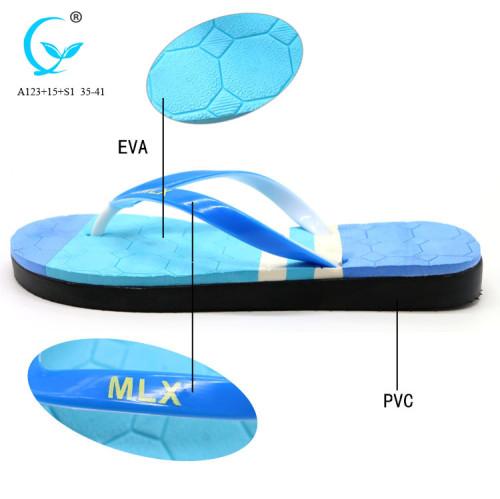 Trend pvc women 2017 printed outsole flip flops beach sandals female
