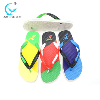 2017 big large black ventilation die cut sole fancy flip flops for men
