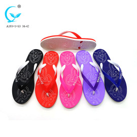 2017 popular flip flops pvc bath wholesale fitness slipper