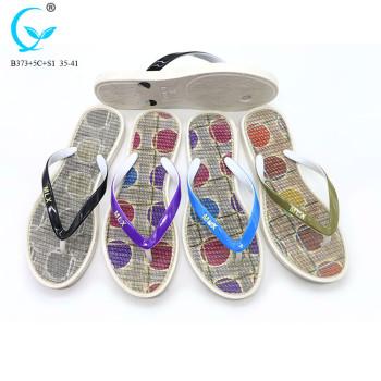 Bath wear pvc shoes flat slipper for women ladies candy colors