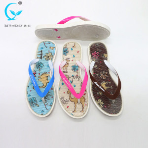 Women pool breathable china fancy flat slippers shoes eva