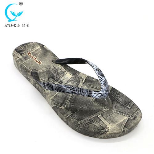 Custom branded pool beach chaussures women flowers slippers pvc