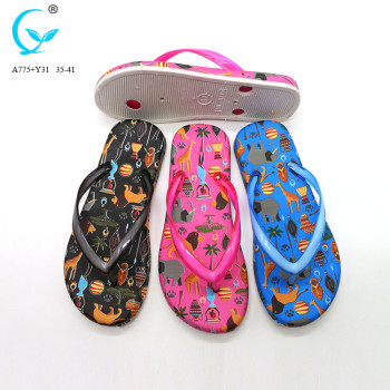 2017 summer new brazil black personalized rubber flip flops