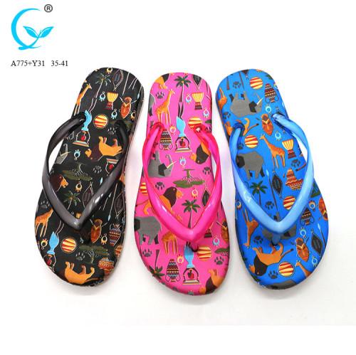2017 summer new brazil black personalized rubber flip flops
