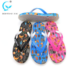 Beach aerosoft pvc air blown women slipper flip flops thongs