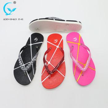 Flop women slide slipper with cheap price spanish women new design slipper for girls flip flops black plastic slippers