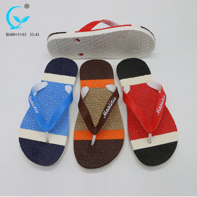 Men breathable flip flops printed new style fancy chappals for man nude beach slippers