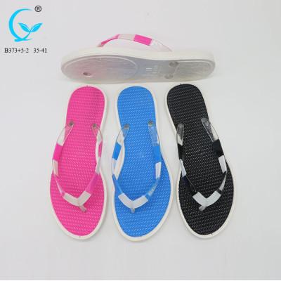 New arrival ladies pvc strips women flipflops rubber recycled flip flops beach bath slippers