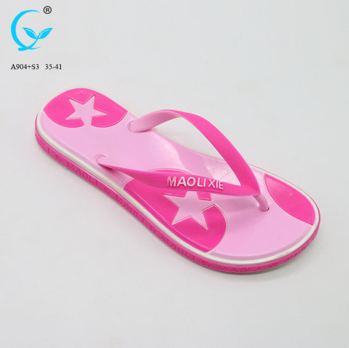 Wholesale bangkok women footwear pvc gold wedge shoe rubber slippers pvc straps