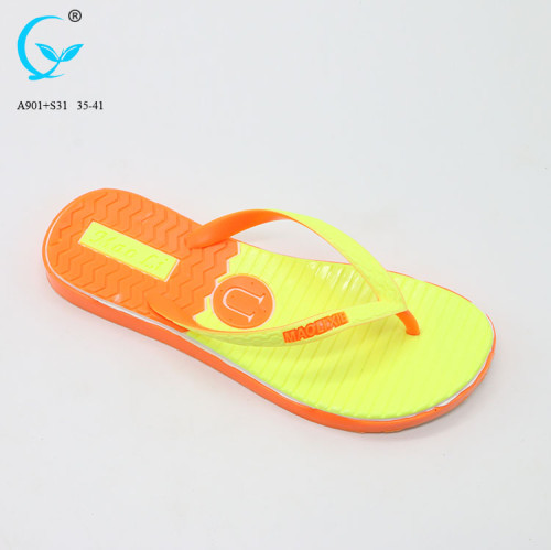 High quality fashion printed eva designed models thick slippers for women