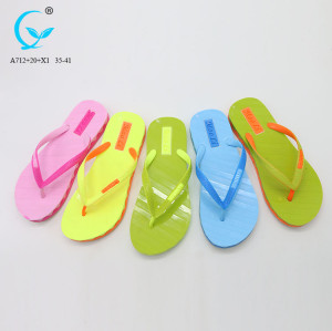 Beach soft footwear women pvc slippers 2017 low price chappal