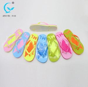 Soft women fancy ladies chappal picture lasar cutting inflatable thong flip flops