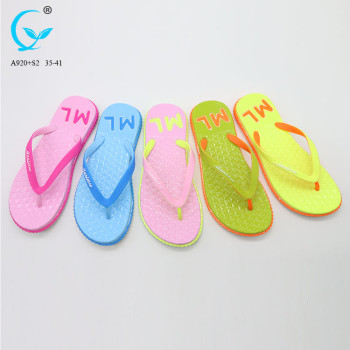 Style and party wear use fancy slippers for ladies flip flops of factory china