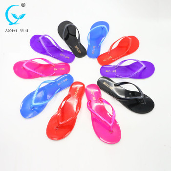 Ladies summer beautiful color beach walk slippers factory price original