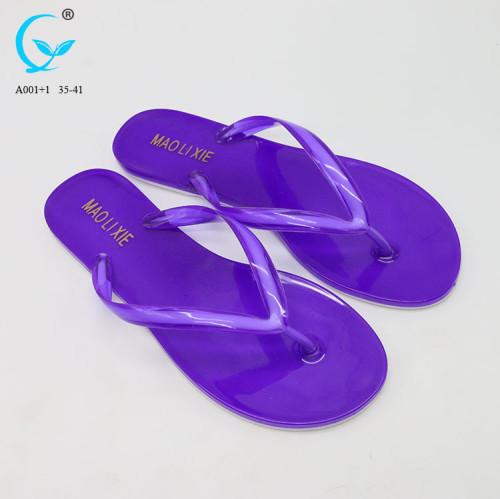 Ladies summer beautiful color beach walk slippers factory price original