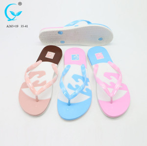 Flip flops 2017 new flat lady shoes slide sandal women pvc good sale slipper