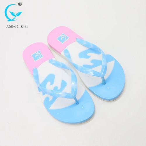 Flip flops 2017 new flat lady shoes slide sandal women pvc good sale slipper