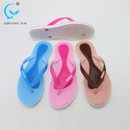 Women nude slippers for beach and promotion flip flop light
