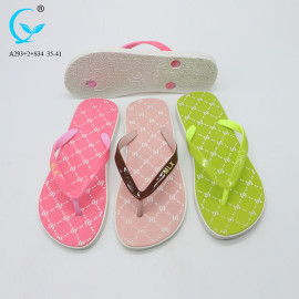 Rubber strap flip flops chines slippers most selling woman footwear
