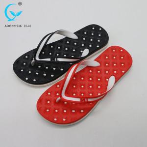 Eva lady flipflop laser cut design flat beachwear cheap+slippers+pvc