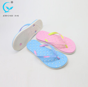 Shoe decoration flip flop new chappals photo swimming pool slipper