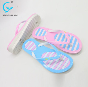 Stylish flip flop massaging slippers for women pvc slipper woman 2018