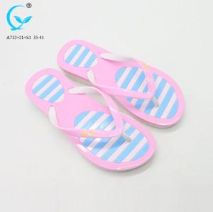 Stylish flip flop massaging slippers for women pvc slipper woman 2018