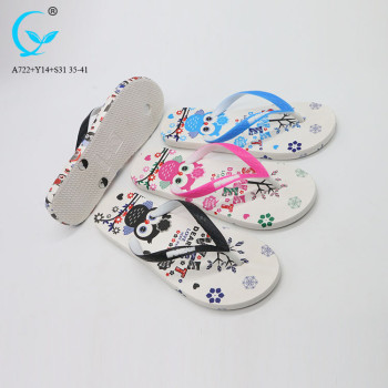Footwear malaysia slipper ousole flower pvc flip flops 2018