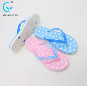 Flower beach flip flops women 2018 pvc fancy flat slipper ladies sandal
