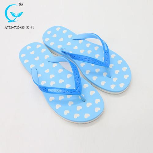 Flower beach flip flops women 2018 pvc fancy flat slipper ladies sandal