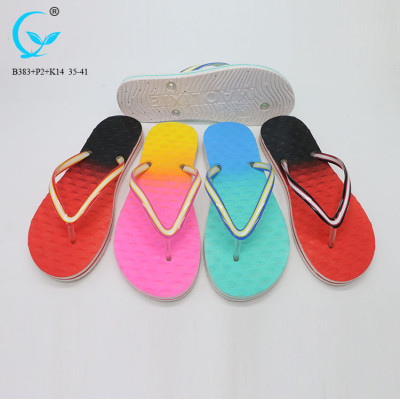 Summer pcu shoes in  women slippers monogram strip woman slipper