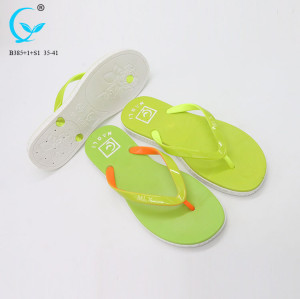 Zhanjiang shoes turkey pvc air-blowing ladies daily wear flat slipper