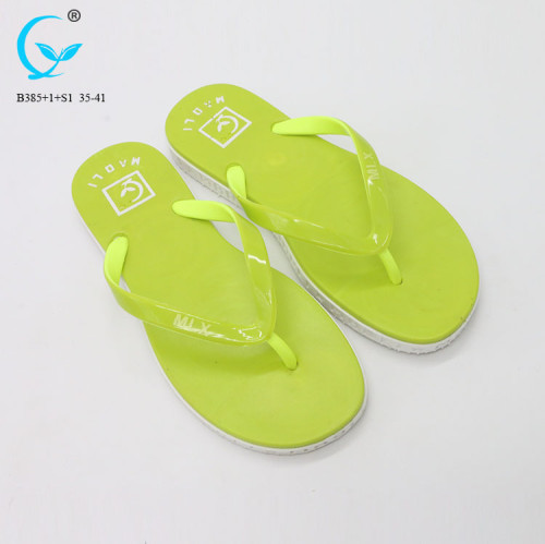Zhanjiang shoes turkey pvc air-blowing ladies daily wear flat slipper
