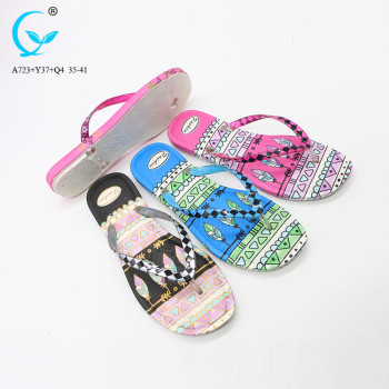 Footwear women shoes ladies fancy ladies chappal thong pvc