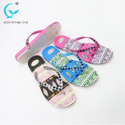 Footwear women shoes ladies fancy ladies chappal thong pvc