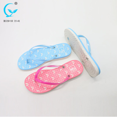 China pvc- fancy flip flops of factory china slippers women dubai
