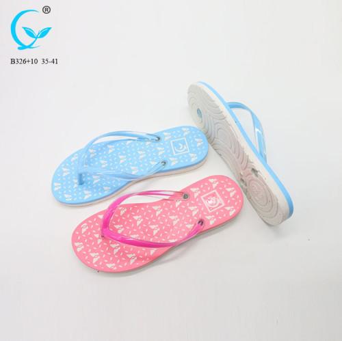 China pvc- fancy flip flops of factory china slippers women dubai