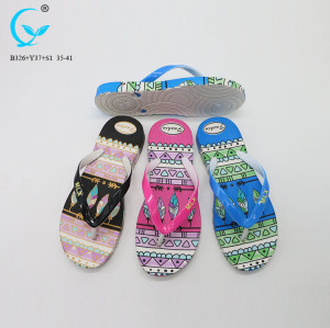 Hot selling pvc die cutting summer flip flop slippers chinese brand new footwear