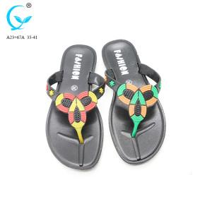 Brazilian plastic wholesale fancy ladies sandals from thailand