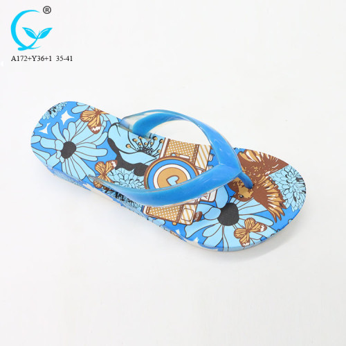 Custom embroidered cute durable spain pvc natural rubber flip flops