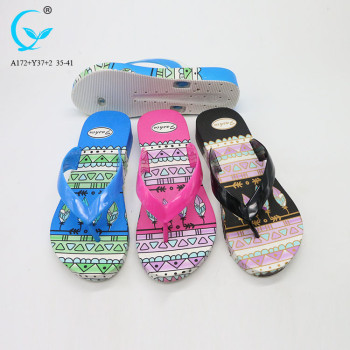 Colorful pvc slippercustom plastic rubber sole wholesale women slipper shoes