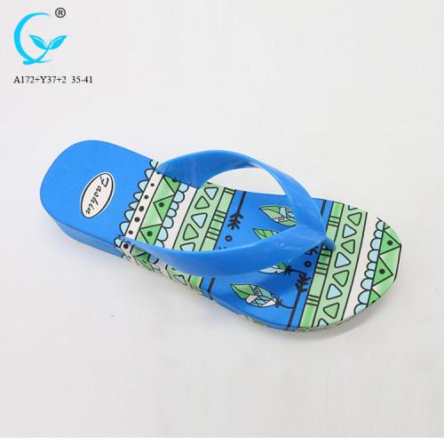Colorful pvc slippercustom plastic rubber sole wholesale women slipper shoes