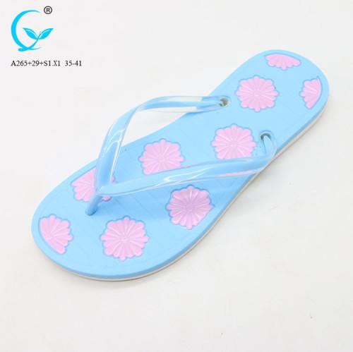 Comfortable lady beach sandal wholesale pvc-slipper china market shoes sandals