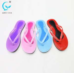 Women's sandals flat fashion brand label flip flop with logo fancy ladies sandals