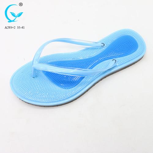 Women's sandals flat fashion brand label flip flop with logo fancy ladies sandals