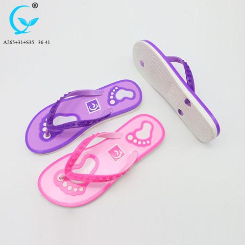 Wholesale sandals beach slippers summer flip flops flat shoes women