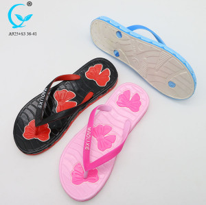 Flip flops custom printed fancy chappals 2018 indoor slippers for women