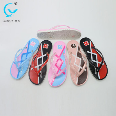 Rubber footwear pvc ladies fancy chappal kenyan slippers jelly shoe woman sandal