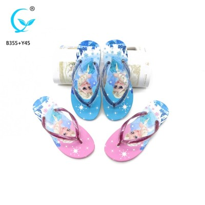 Latest sandals for women 2017  rubber flip flops custom printed slippers ladies sandals dubai