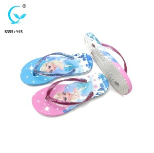 Latest sandals for women 2017  rubber flip flops custom printed slippers ladies sandals dubai